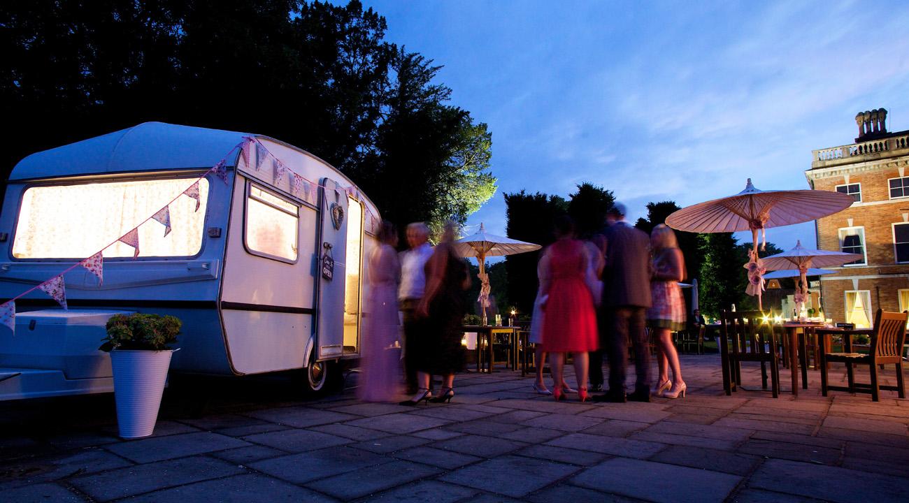 Rosie at Night - Vintage caravanphotobooth